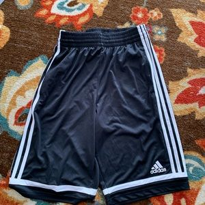 Adidas shorts men's small black and white